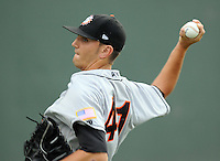 July 21, 2008: RHP Terrence Engles (41) of the Hagerstown Suns, Class A affiliate of the Washington Nationals, in a game against the Greenville Drive at Fluor Field at the West End in Greenville, S.C. Photo by:  Tom Priddy/Four Seam Images