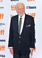 "07 September 2019 - Toronto, Ontario Canada - Christopher Plummer. 2019 Toronto International Film Festival - ""Knives Out"" Premiere held at Princess of Wales Theatre. <br /> CAP/ADM/BPC<br /> ©BPC/ADM/Capital Pictures"