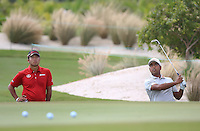 151201 Hidecki Matsuyama and Anriban Lahiri during Tuesday's Practice Round of The Hero World Challenge at The Albany Golf Club, in Nassau,Bahamas.(photo credit : kenneth e. dennis/kendennisphoto.com)