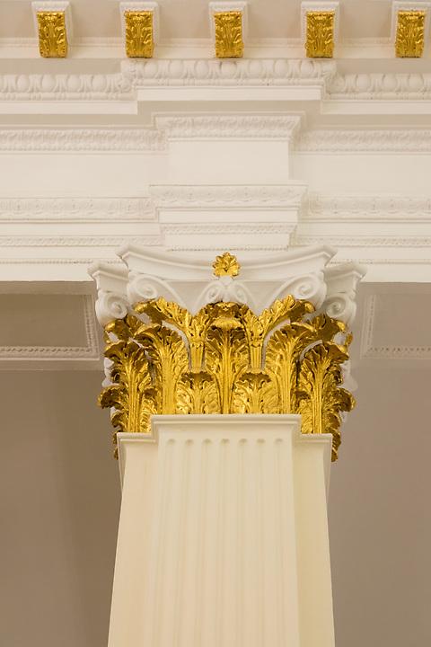 Detail on the Ballroom columns.