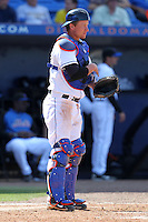 New York Mets Kai Gronauer #71 during an exhibition game vs the Michigan Wolverines at Digital Domain Ballpark in Port St. Lucie, Florida;  February 27, 2011.  New York defeated Michigan 7-1.  Photo By Mike Janes/Four Seam Images