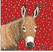 Kate, CHRISTMAS ANIMALS, WEIHNACHTEN TIERE, NAVIDAD ANIMALES, paintings+++++Donkey in snow,GBKM261,#xa#