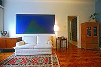 Sala de apartamento. RJ. Foto de Luciana Whitaker.