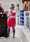 8 January 2016: Micaela Widmer, competing for Switzerland, completes her second run of the BMW IBSF World Cup Skeleton race with a combined 2-run time of 1:52.79, earning a 16th place finish for the day at the Olympic Sports Track in Lake Placid, New York, USA. Mandatory Credit: Ed Wolfstein Photo *** RAW (NEF) Image File Available ***