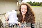 Maeve Lyons from Tralee who got Eleven A's in her Junior Cert, pictured at Mercy Mounthawk Secondary, Tralee on Wednesday.