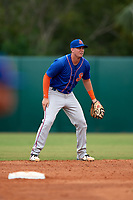 St. Lucie Mets second baseman Jeff McNeil (5) during a game against the Florida Fire Frogs on July 23, 2017 at Osceola County Stadium in Kissimmee, Florida.  St. Lucie defeated Florida 3-2.  (Mike Janes/Four Seam Images)