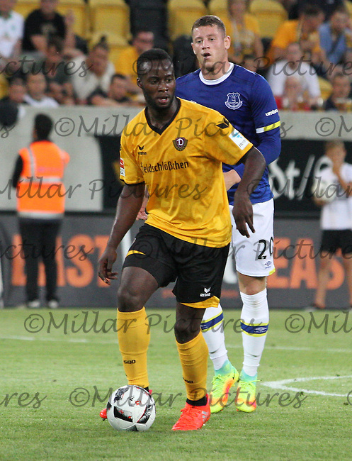 Erich Berko in the Dynamo Dresden v Everton match in the Bundeswehr Karriere Cup Dresden 2016 played at the DDV Stadion, Dresden on 29.7.16.