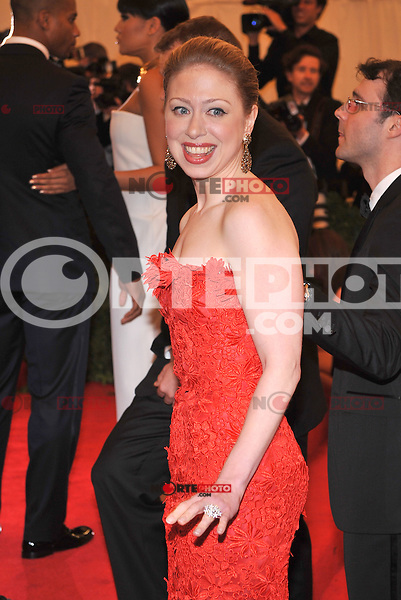 Chelsea Clinton at the 'Schiaparelli And Prada: Impossible Conversations' Costume Institute Gala at the Metropolitan Museum of Art on May 7, 2012 in New York City. © mpi03/MediaPunch Inc.