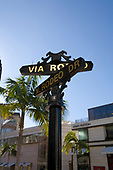 Via Rodeo Sign, Rodeo Drive, Beverly Hills, Los Angeles, California, USA