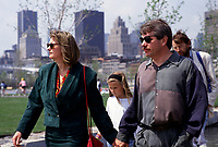 Montreal. CANADA -   May 16, 1992  File Photo -<br /> <br /> Jean Dore, Montreal Mayor and wife attend the 350th anniversary of Montreal city in the Old-Port<br /> <br /> File Photo : Agence Quebec Pressse - Pierre Roussel