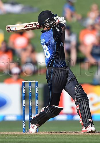 03.02.2015. Napier, New Zealand.  Gratn Elliott. ANZ One Day International Cricket Series. Match 2 between New Zealand Black Caps and Pakistan at McLean Park in Napier, New Zealand.