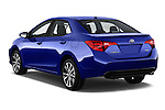 Car pictures of rear three quarter view of 2017 Toyota Corolla XSE-AT 4 Door Sedan Angular Rear