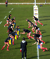 The Canada team warm up for the 2017 International Women's Rugby Series rugby match between Canada and Australia Wallaroos at Smallbone Park in Rotorua, New Zealand on Saturday, 17 June 2017. Photo: Dave Lintott / lintottphoto.co.nz
