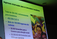 SAO PAULO, SP, 19.07.2013 - COLETIVA / FIFA / INGRESSOS - Coletiva de imprensa de anúncio dos preços de ingressos para a Copa do Mundo da FIFA no Renaissance no Jardim Paulista região sul de São Paulo, nesta sexta-feira, 19. (Foto: Vanessa Carvalho / Brazil Photo Press).