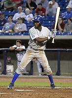 May 12, 2004:  Alejandro De Aza of the Columbus Catfish, South Atlantic League (low-A) affiliate of the Los Angeles Dodgers, during a game at Classic Park in Eastlake, OH.  Photo by:  Mike Janes/Four Seam Images