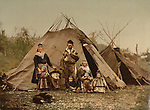 A Lapp family, Norway, circa 1900