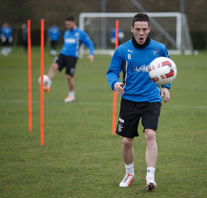 Ian Black transfixed by the ball