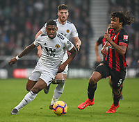 Wolverhampton Wanderers' Ivan Cavaleiro (left) under pressure from Bournemouth's Nathan Ake (right) <br /> <br /> Photographer David Horton/CameraSport<br /> <br /> The Premier League - Bournemouth v Wolverhampton Wanderers - Saturday 23 February 2019 - Vitality Stadium - Bournemouth<br /> <br /> World Copyright © 2019 CameraSport. All rights reserved. 43 Linden Ave. Countesthorpe. Leicester. England. LE8 5PG - Tel: +44 (0) 116 277 4147 - admin@camerasport.com - www.camerasport.com