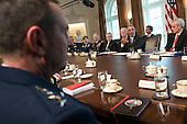 United States President Barack Obama speaks to the media as he meets with the Joint Chiefs of Staff and Combatant Commanders in the Cabinet Room at the White House in Washington, D.C. on January 4, 2017. <br /> Credit: Kevin Dietsch / Pool via CNP
