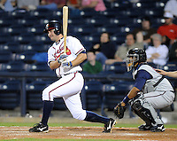 9 April 2008: Infielder Van Pope (8) of the Mississippi Braves, Class AA affiliate of the Atlanta Braves, in the season's home opener against the Mobile BayBears at Trustmark Park in Pearl, Miss. Photo by:  Tom Priddy/Four Seam Image