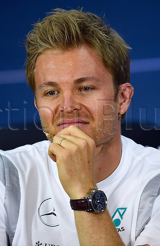 01.04.2016. Bahrain. FIA Formula One World Championship 2016, Grand Prix of Bahrain, Practise day.  Nico Rosberg; Mercedes Grand Prix, formula 1 GP at the press conference