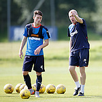 Jordan Thompson gets instructions from Mark Warburton