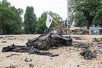 2014/06/19 Berlin | Brandanschlag auf Infozelt Oranienplatz