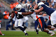 November 2, 2013  (State College, Pennsylvania)  Running back Bill Belton #1 of the Penn State Nittany Lions runs the ball in the first quarter against the Illinois Fighting Illini.  Penn State won in OT 24-17. (Photo by Don Baxter/Media Images International)