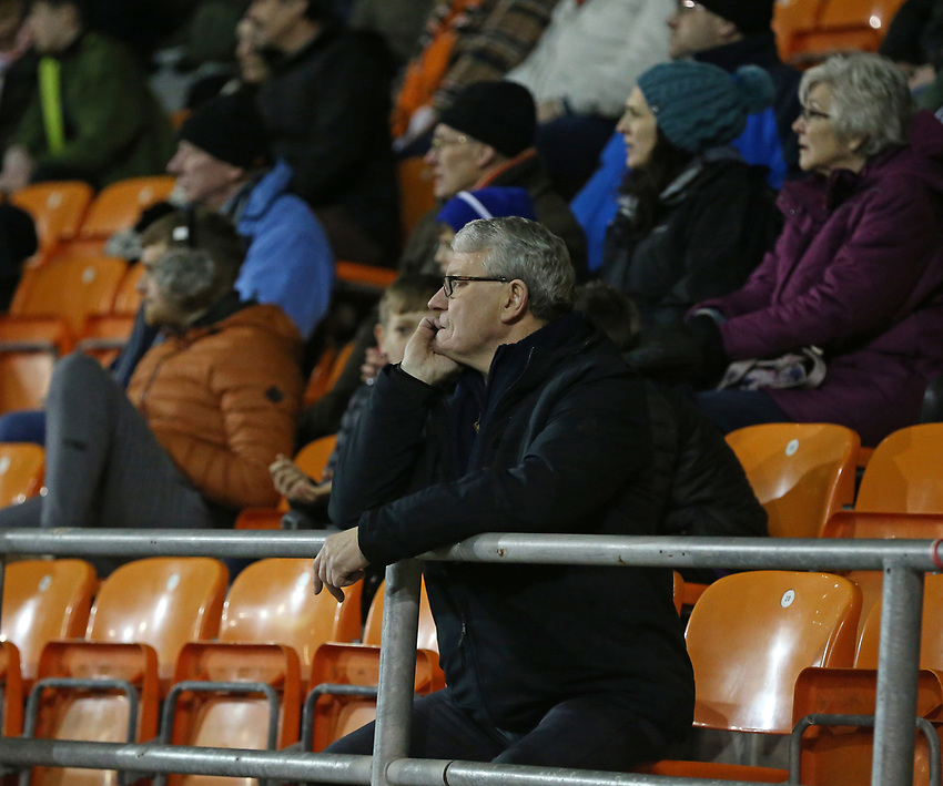 Blackpool fans watch <br /> <br /> Photographer Stephen White/CameraSport<br /> <br /> Emirates FA Cup Third Round - Blackpool v Arsenal - Saturday 5th January 2019 - Bloomfield Road - Blackpool<br />  <br /> World Copyright © 2019 CameraSport. All rights reserved. 43 Linden Ave. Countesthorpe. Leicester. England. LE8 5PG - Tel: +44 (0) 116 277 4147 - admin@camerasport.com - www.camerasport.com