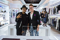 Jallal and Will Ayers attend the WILLIAM Sample Sale at Brigade LA on October 25, 2014