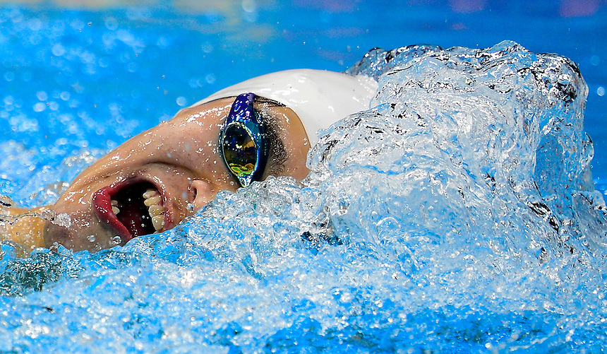 Sun Yang of China makes his way to gold in the 400 metre men's freestyle final at the Aquatic Centre in the Olympic Village at the 2012 Summer Olympics in London on Saturday, July 28, 2012. THE CANADIAN PRESS/Sean Kilpatrick
