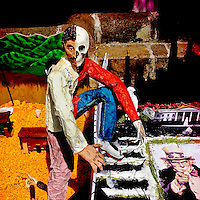 A figurative allegorical altar, with a strong anti-US political connotation, is seen on the street during the celebrations of the Day of the Dead (Día de Muertos) holiday in Morelia, Michoacán, Mexico, 2 November 2014.