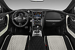 Stock photo of straight dashboard view of 2017 Infiniti QX70 3.7 5 Door SUV Dashboard