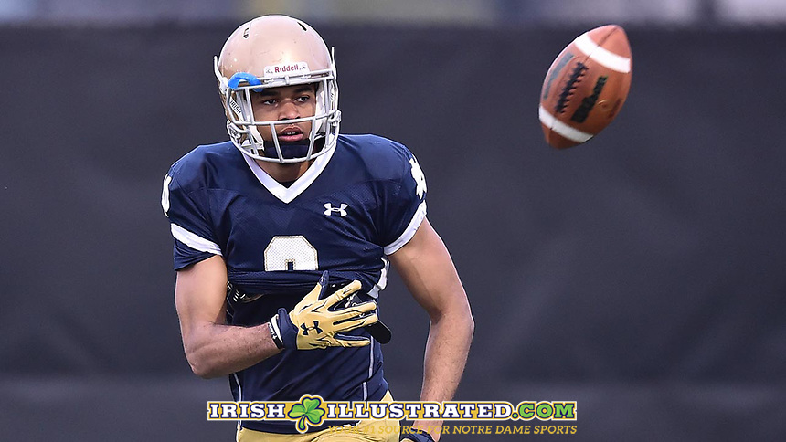 Wide receiver Equanimeous St. Brown (6)
