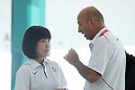 (L-R)  Akiko Sato,    Dushanov Emil (JPN), <br /> AUGUST 22, 2018 - Shooting : <br /> Women's 25m Pistol<br /> at Jakabaring Sport Center Shooting Range <br /> during the 2018 Jakarta Palembang Asian Games <br /> in Palembang, Indonesia. <br /> (Photo by Yohei Osada/AFLO SPORT)