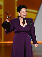 LOS ANGELES - SEPTEMBER 22: Alex Borstein accepts the award for supporting actress in a comedy series at the 71st Primetime Emmy Awards at the Microsoft Theatre on September 22, 2019 in Los Angeles, California. (Photo by Frank Micelotta/Fox/PictureGroup)
