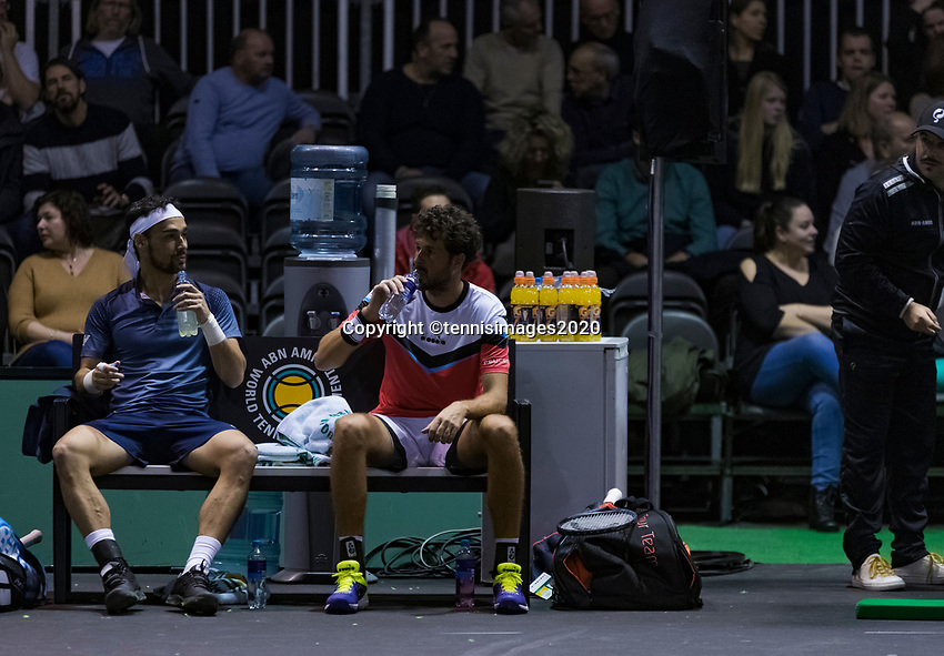 Rotterdam, The Netherlands, 9 Februari 2020, ABNAMRO World Tennis Tournament, Ahoy, Doubles: Fabio Fognini (ITA) and Robin Haase (NED).<br /> Photo: www.tennisimages.com
