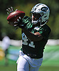 Buster Skrine #41 of the New York Jets works on interception drills during the second day of team training camp held at Atlantic Health Jets Training Center in Florham Park, NJ on Sunday, July 30, 2017.