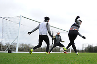 Connor Roberts of Swansea City has a shot during the Swansea City Training at The Fairwood Training Ground, Swansea, Wales, UK. Tuesday 22 January 2019