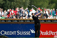 Alexander Noren (SWE) on the 6th during the final day of the Omega European Masters, Crans-Sur-Sierre, Crans Montana, Switzerland.4/9/11.Picture: Golffile/Fran Caffrey..