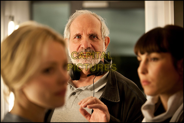 Rachel McAdams, Brian De Palma (director), Noomi Rapace<br /> on the set of Passion (2012) <br /> *Filmstill - Editorial Use Only*<br /> CAP/NFS<br /> Image supplied by Capital Pictures