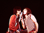 Rolling Stones 1976 Ron Wood and Mick Jagger.© Chris Walter.