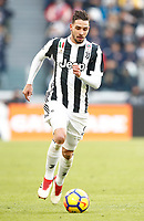 Calcio, Serie A: Juventus - Sassuolo, Torino, Allianz Stadium, 4 Febbraio 2018. <br /> Juventus' Mattia De Sciglio in action during the Italian Serie A football match between Juventus and Sassuolo at Torino's Allianz stadium, February 4, 2018.<br /> UPDATE IMAGES PRESS/Isabella Bonotto