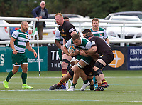 Rayn Smid of Ealing Trailfinders during the RFU Championship Cup match between Ealing Trailfinders and Ampthill RUFC at Castle Bar , West Ealing , England  on 28 September 2019. Photo by Alan  Stanford / PRiME Media Images