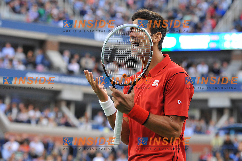 Novak Djokovic (Ser) <br /> Flushing Meadows 08/09/2013<br /> Tennis US Open Finale Uomini <br /> Foto Panoramic / Insidefoto<br /> ITALY ONLY