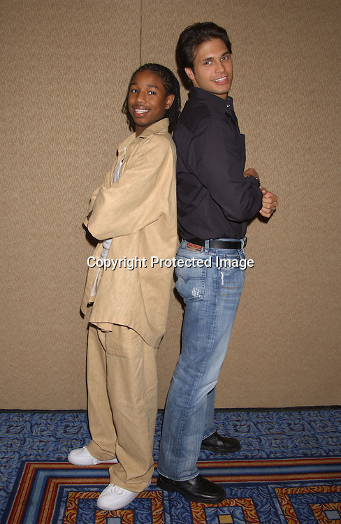 Maximillian Alexander and Michael B Jordan                               ..at the All My Children Fan Club Luncheon on August 10,2003 at the Marriott Marquis Hotel in NYC. Photo by Robin Platzer, Twin Images