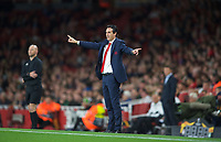 Arsenal Manager Unai Emery during the UEFA Europa League group E match between Arsenal and Vorskla Poltava at the Emirates Stadium, London, England on 20 September 2018. Photo by Andrew Aleks.