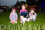 Pictured at the dog show in Cahersiveen on Friday organised by the Cahersiveen Race Committee were l-r; Issabel Williams, Clara Daly & Aeibhin Williams with 'Casper'.