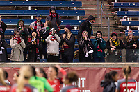 Bridgeview, IL - Saturday March 31, 2018: Portland Thorns FC Fans during a regular season National Women's Soccer League (NWSL) match between the Chicago Red Stars and the Portland Thorns FC at Toyota Park.