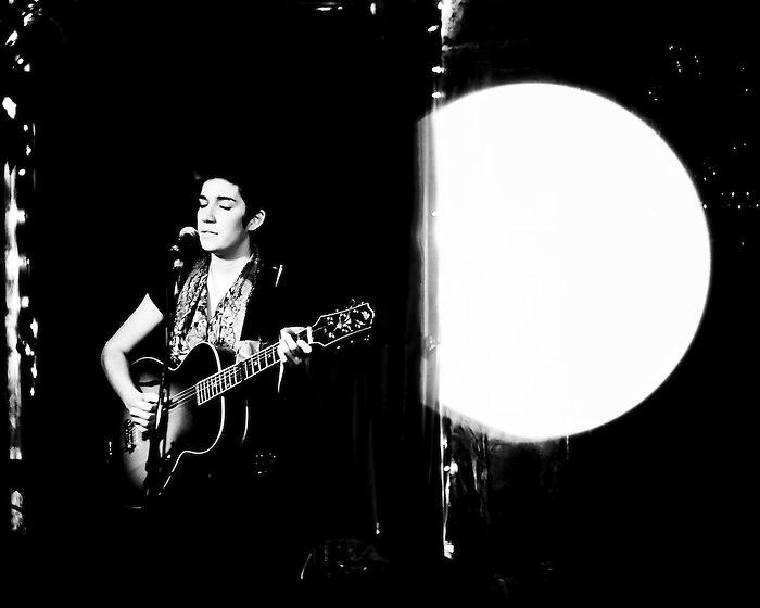 Singer/songwriter Zoe Boekbinder plays a show in Monterey, California in 2010.